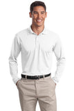 White Sport Tek Embroidered Polo shirt ST657