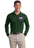 Sport Tek Long Sleeve Polo Custom Embroidered ST657Forest Green