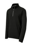 sPORT tEK qUARTER zIP pULL oVER Custom Embroidered ST860 Black
