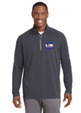 sPORT tEK qUARTER zIP pULL oVER Custom Embroidered ST860 Iron Grey