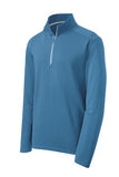 sPORT tEK qUARTER zIP pULL oVER Custom Embroidered ST860 Dawn Blue