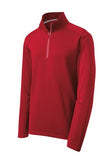 sPORT tEK qUARTER zIP pULL oVER Custom Embroidered ST860 Red