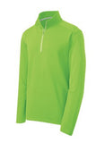 sPORT tEK qUARTER zIP pULL oVER Custom Embroidered ST860 Lime