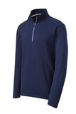 sPORT tEK qUARTER zIP pULL oVER Custom Embroidered ST860 Navy