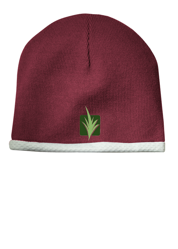 Sport Tek Knit Beanie Maroon Custom Embroidered STC15