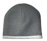Sport Tek Knit Beanie Athletic Grey Custom Embroidered STC15