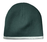 Sport Tek Knit Beanie Green Custom Embroidered STC15