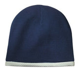 Sport Tek Knit Beanie Navy Custom Embroidered STC15