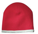 Sport Tek Knit Beanie Red Custom Embroidered STC15