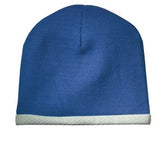 Sport Tek Knit Beanie Royal Custom Embroidered STC15