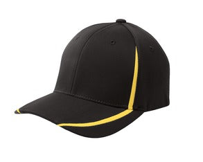 Boggs St Sport Tek FlexFit Performance Colorblock Cap Custom Embroidered STC16 BlackGold