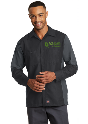 Gold Dust Trail - Red Kap® Long Sleeve Ripstop Crew Shirt. (SY10)