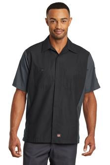 Red Kap Short Sleeve Ripstop Crew Shirt Custom Embroidered SY20 Black Charcoal