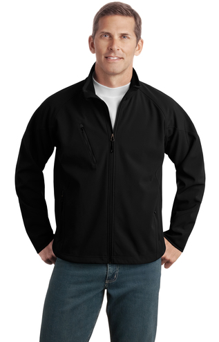 Station Path Port Authority® Tall Textured Soft Shell Jacket TLJ705