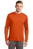 Sport Tek Long Sleeve Competitor Deep orange Custom Embroidered ST350LS