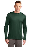 Sport Tek Long Sleeve Competitor Forest Green Custom Embroidered ST350LS