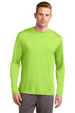 Sport Tek Long Sleeve Competitor Lime Shock Custom Embroidered ST350LS