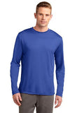 Sport Tek Long Sleeve Competitor Royal Custom Embroidered ST350LS