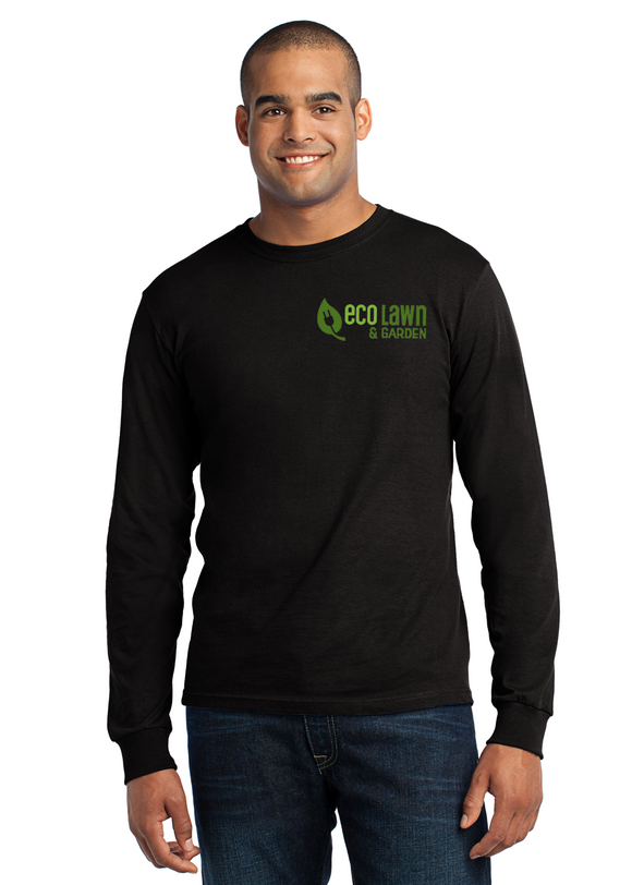 Port Company Long Sleeve T Shirt Custom Embroidered USA100LS Black