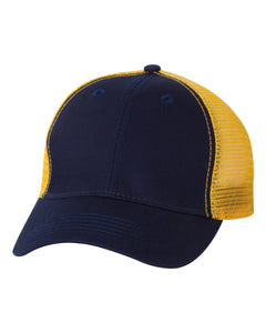 Team Sportsman Navy Gold Hat Custom Embroidered AH80