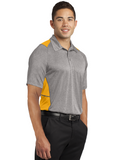 Sport Tek Colorblock Polo Heather Gold Custom Embroidered ST665