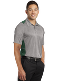 Sport Tek Colorblock Polo Heather Forest Custom Embroidered ST665