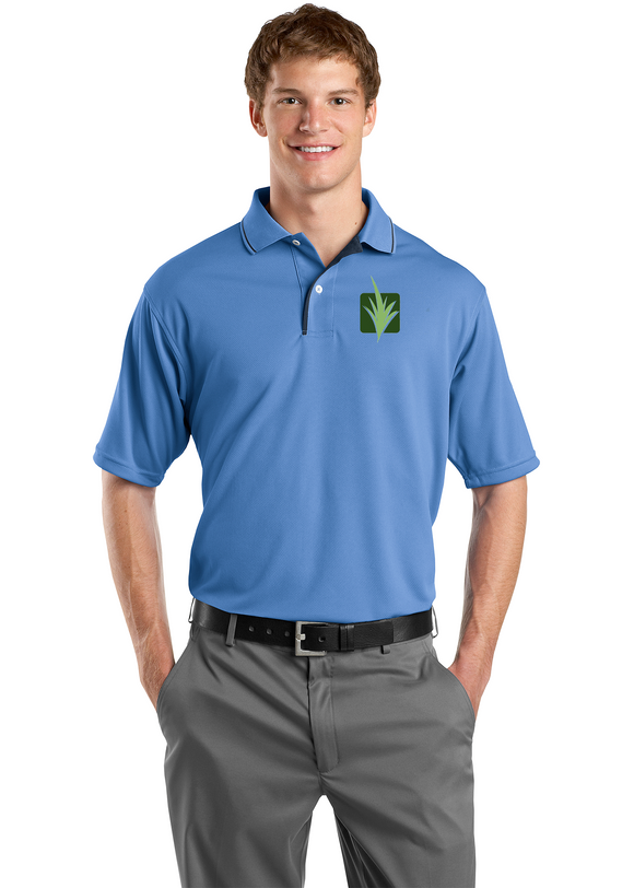 Sport Tek Dry mesh Polo Custom Embroidered K467 Blueberry