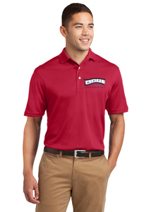 Sport Tek Dri Mesh Polo RED Custom Embroidered K469
