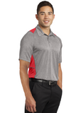 Sport Tek Colorblock Polo Heather Red Custom Embroidered ST665