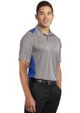 Sport Tek Colorblock Polo Heather Royal Custom Embroidered ST665