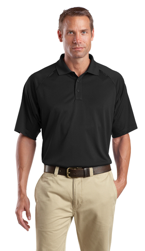CornerStone Tall Snag Proof Tactical Polo Custom Embroidered TLCS410 Black