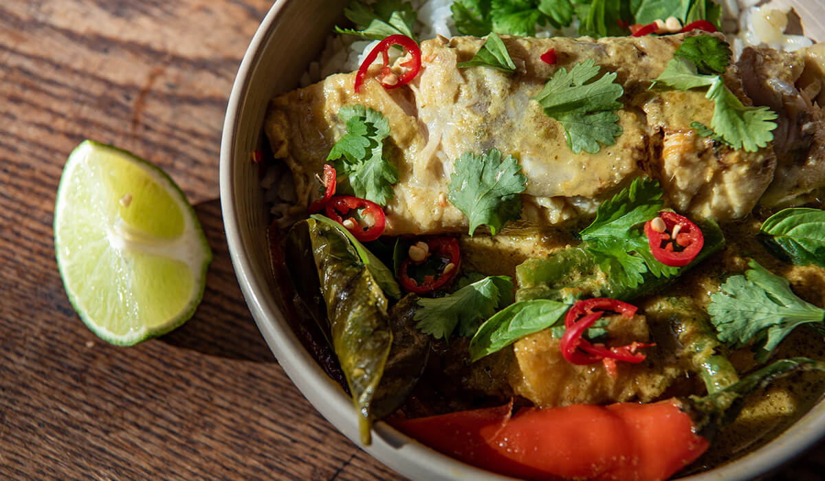 Thai Green Curry w. Barramundi