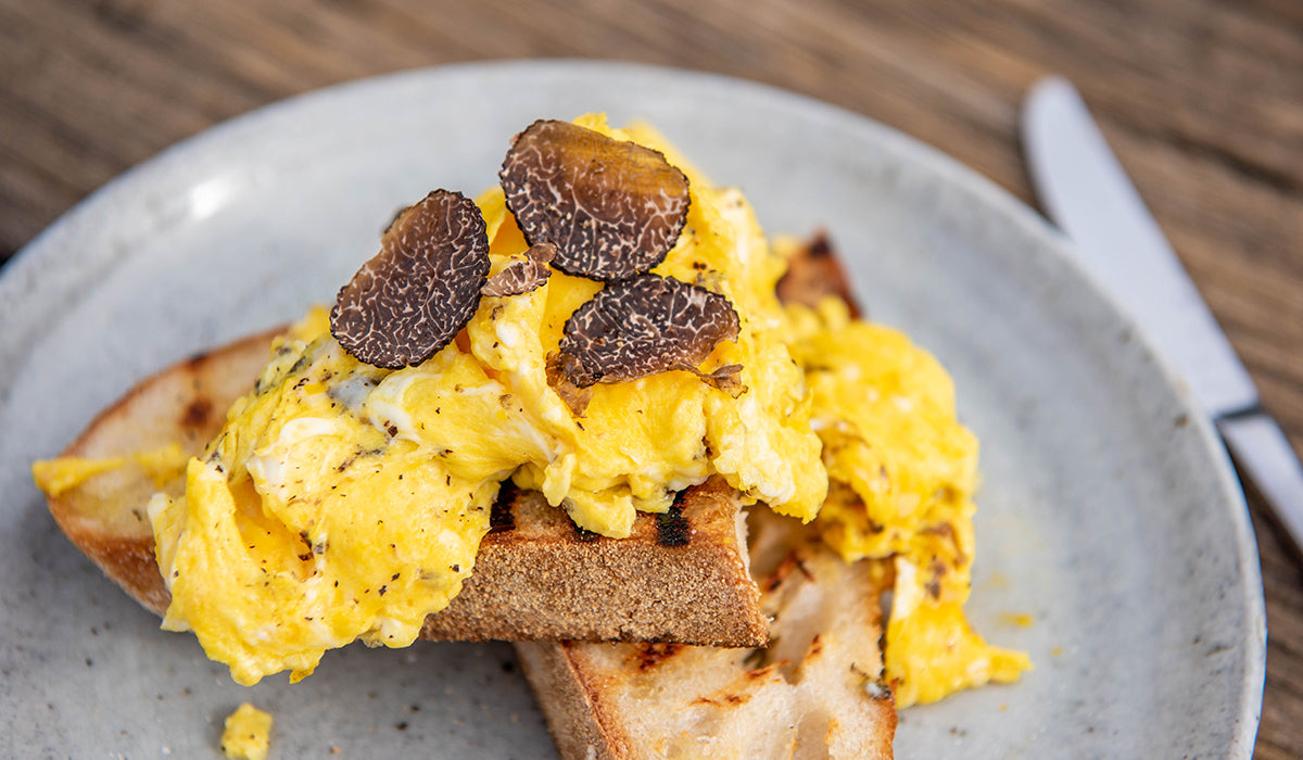 Scrambled eggs with truffles