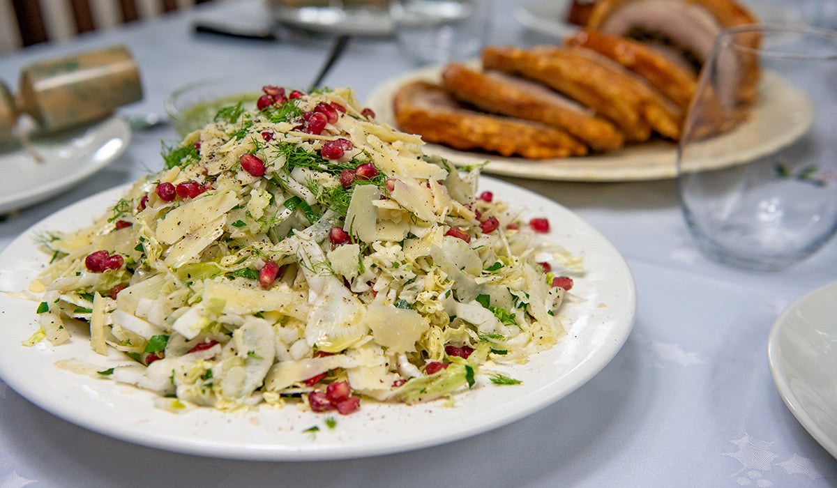 Fennel, Wombok & Pomegranate Salad