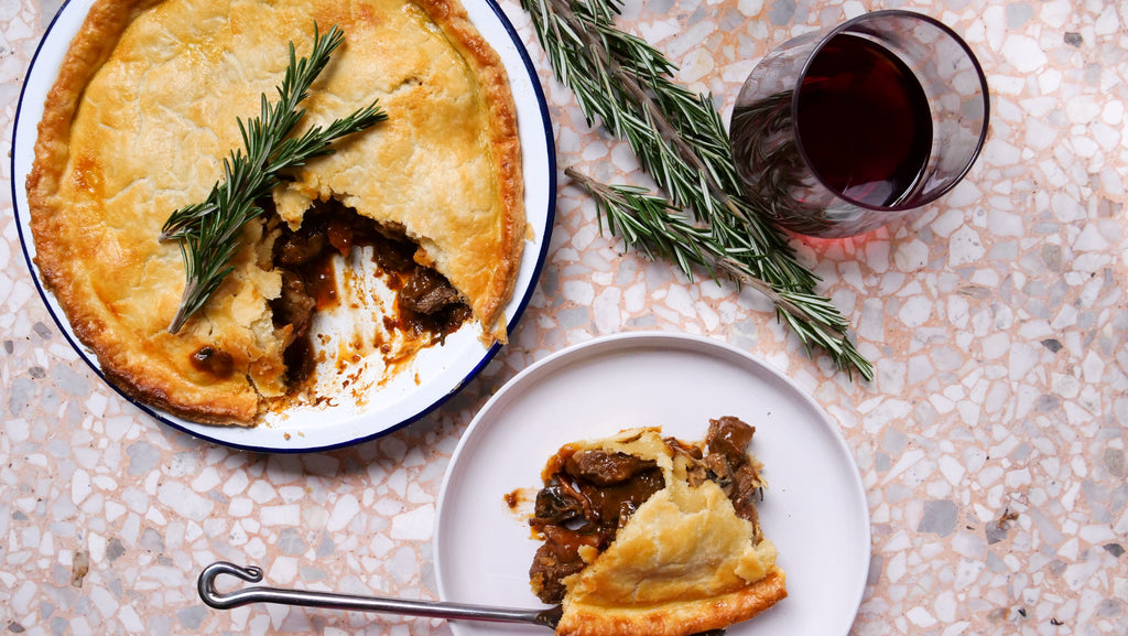 Beef, Mushroom and Bacon Pot Pie