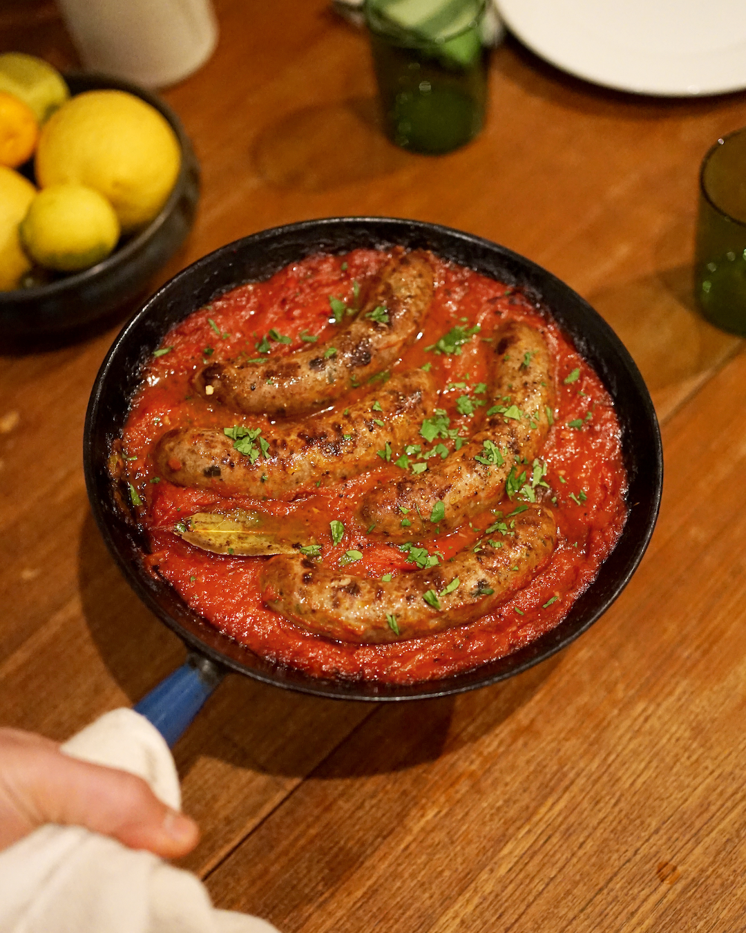 Baked Italian Sausages with Tomato