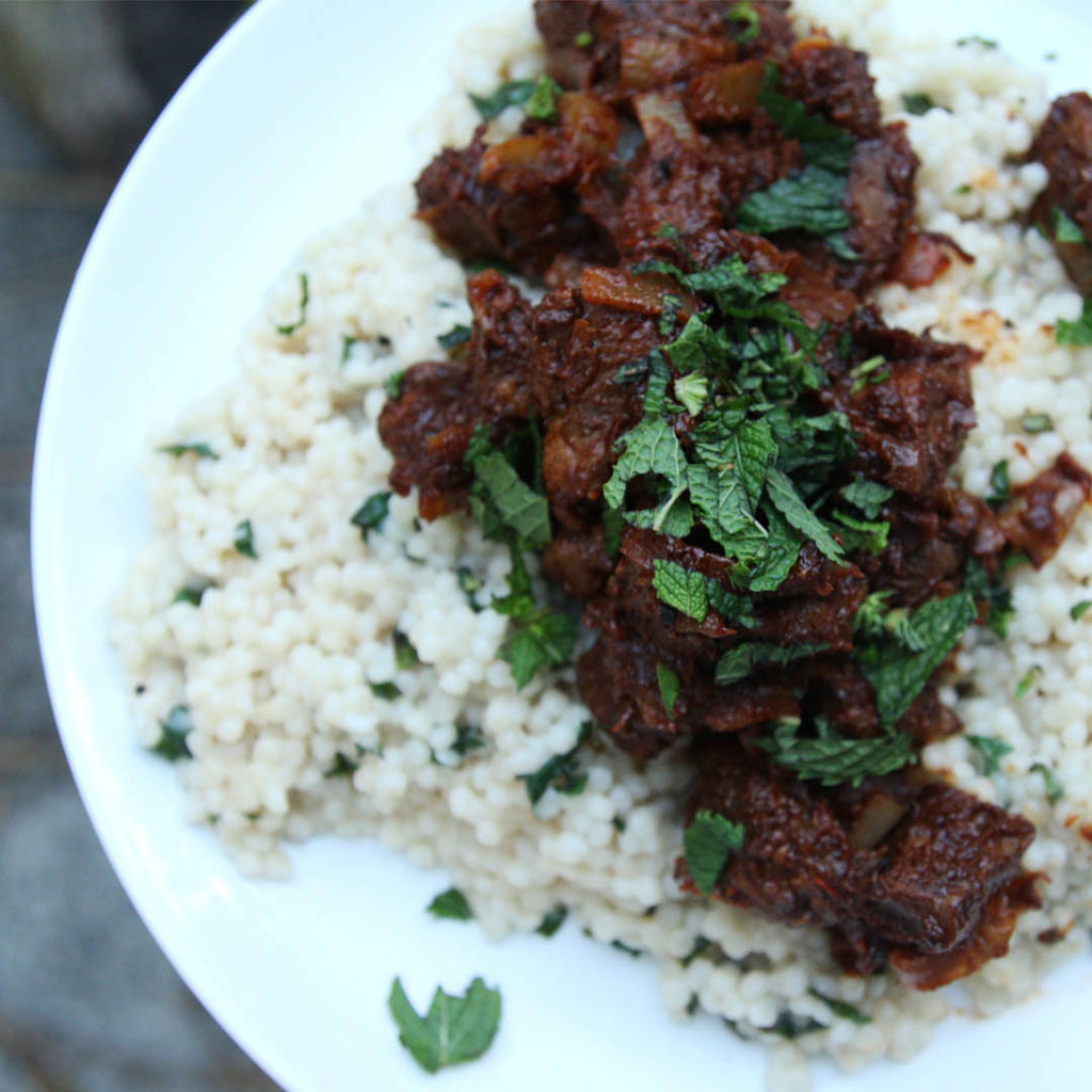 Mediterranean braised lamb with couscous