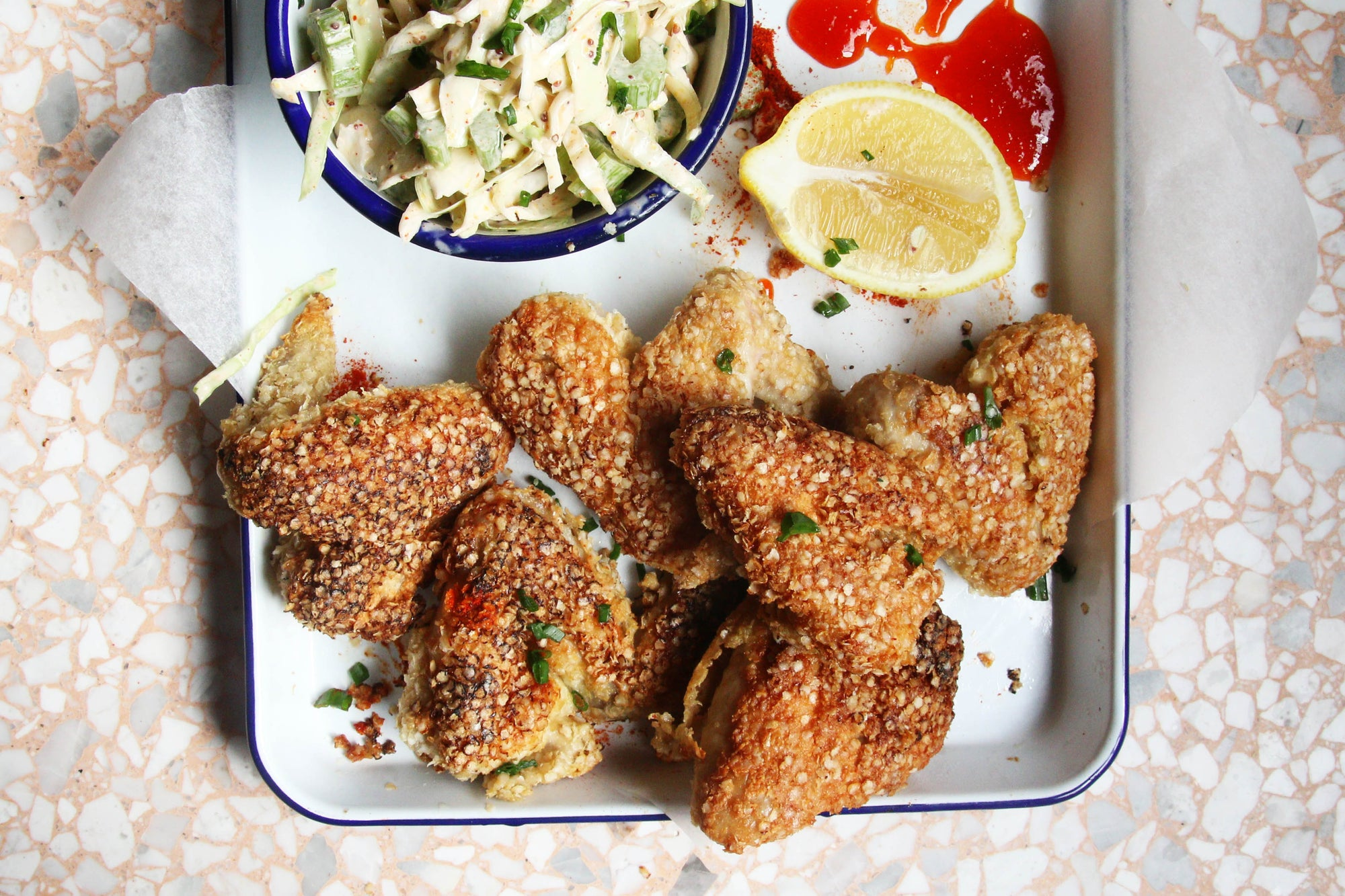 Quinoa Coated Chicken Wings