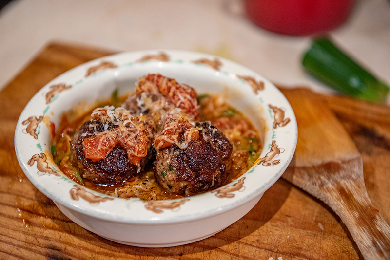 Meatballs with Zoodles & Sugo