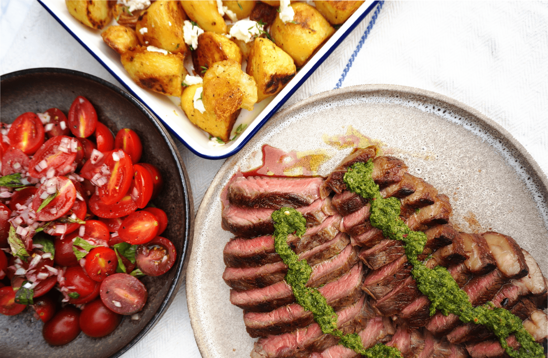 Liv's Rump Steak with Chimichurri