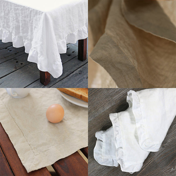 Linen Tablecloth, Napkins and placemats