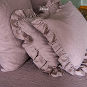 Ruffles Shams Soft Washed Linen (set of 2) Lilac