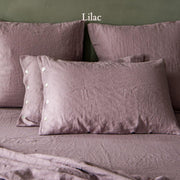 Side Buttoned Pillowcases set Lilac