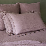 Flanged Border Pillowcases Lilac - Linenshed-1