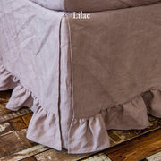 Ruffled Bed Skirt Lilac