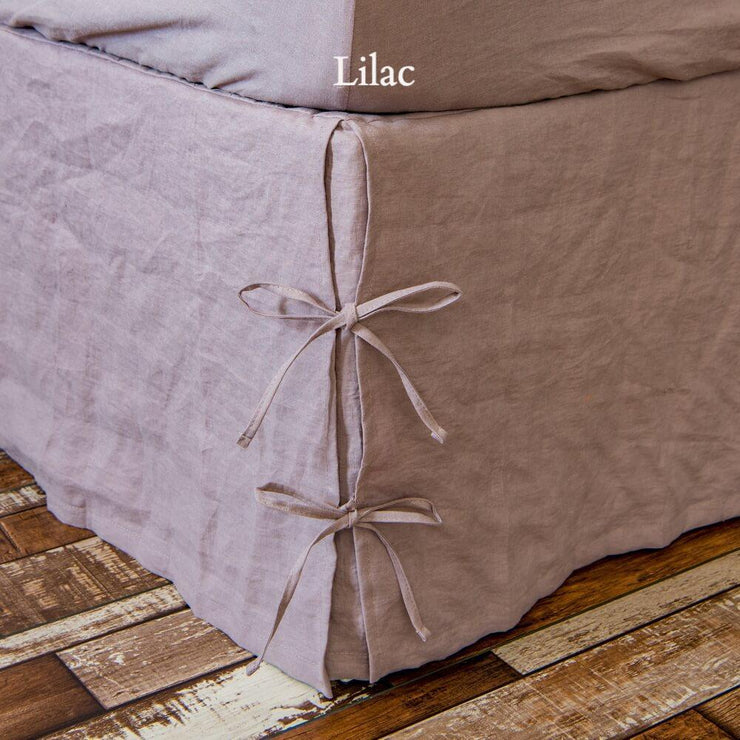 Knotted Bed Skirt Lilac