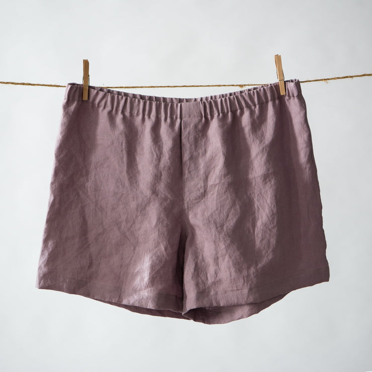 Men Linen Boxer short Lilac