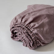 Basic Linen Fitted Sheet Lilac- Linenshed - 2