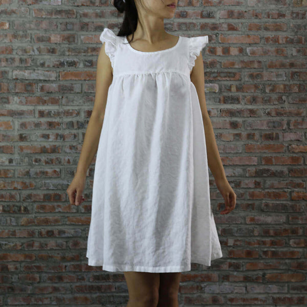 Baby Doll Linen Night Dress