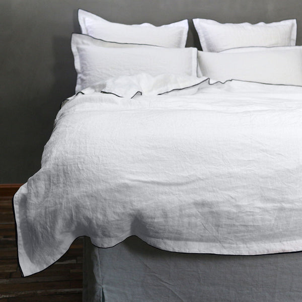 Bourdon Edge Duvet Cover - Linenshed